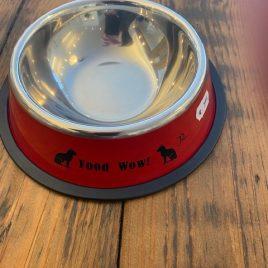 Drinkbank rood voor kat