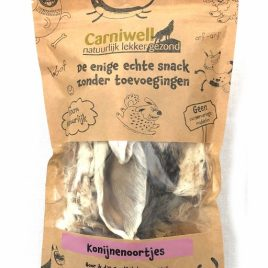 Carniwell Konijnenoortjes met vacht 70g
